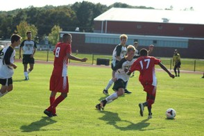 The No. 11 Pope Francis soccer team, shown in a prior game, defeated No. 16 Palmer, 5-2, Monday. (CONOR RYAN / MASSLIVE)