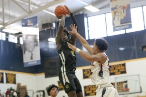 Roselle Catholic's Kahlil Whitney #2 in action against Archbishop Stepinac during a high school basketball game on Sunday, January 13, 2019 in the Bronx, NY. Roselle Catholic won the game. (AP Photo/Gregory Payan)