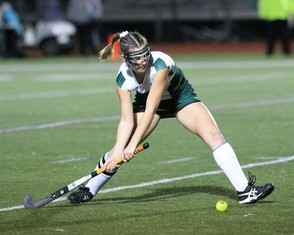 D-II Western Mass Championship Field Hockey game between Greenfield and Frontier on November 8, 2018. Here is Raegan Hickey. (Doug Steinbock Photography)