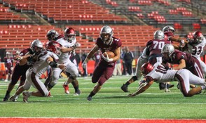 St. Peter's Prep running back Anthony Summey completes a 96-yard touchdown run during the Battle on the Banks football showcase at Rutgers University on Saturday, September 8, 2018. (Andrew Mills | NJ Advance Media for NJ.com)