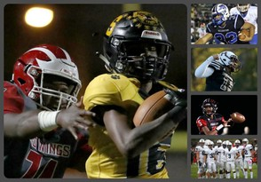 The pubilc football finals will be played this weekend and NJ.com makes bold predicitions for the games involving Shabazz (left) and right from top to bottom, Williamstown, Hillside, Rahway and Shawnee. (Joe Zedalis | NJ Advance Media for NJ.com)