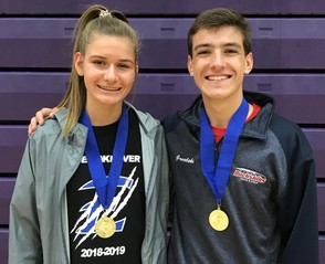 Katie Locker, of Elizabethtown, and Nathan Grucelski, of Conestoga Valley. Photo courtesy of L-L League