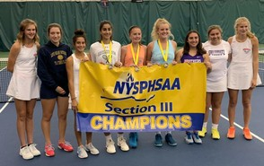 These tennis players will represent Section III at this year's state tournament. They are Sydney Lusher (Oneida) Ellen Lyga (Utica Notre Dame), Gieselle Vlassis (CBA), Katerina Atallah (FM), Katie Viau (West Genesee) Mikayla Mannara (West Genesee), Grace DelPino (CBA), Grace Coyne (CBA) and Lauren Skibitski (Oneida)