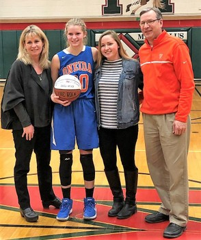 Oneida senior Lauren Skibitski joined the 1,000-point club during Tuesday's win over Marcellus. (Provided photo)