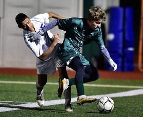 Fayetteville-Manlius dropped Nottingham 2-1 in their Class AA sectional quarterfinal contest on Thursday. (Photo by Scott Schild)