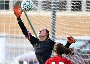 Sauquoit Valley's Allison Moreau recorded her Section III leading 61st shutout as Sauquoit Valley blanked Tully 3-0. (Photo by Jeff Pexton, Perfect Game Imaging)