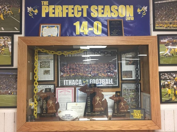 Ithaca Turns Trophy Cases Into State Championship Museum