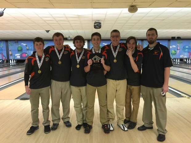 jonesville boys bowlers win cascades clash tournament by beating