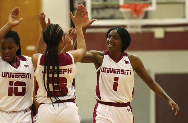 Look back at live updates from No  7 University's 75-45 win