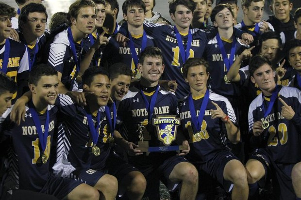 20f11f8a35b76b Notre Dame boys soccer goes back-to-back with dramatic OT win ...