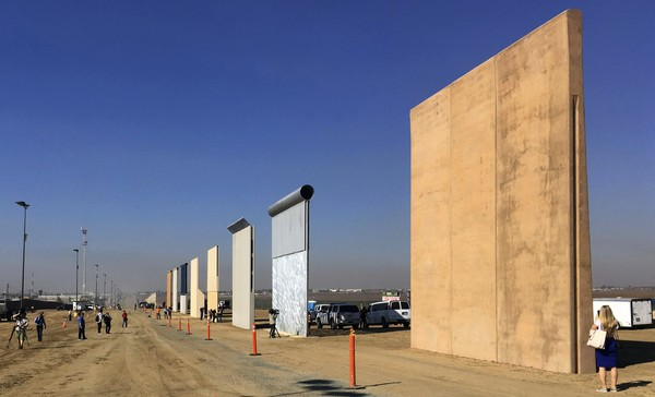 This Oct. 26, 2017, file photo shows prototypes of border walls in San Diego.