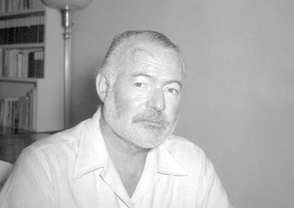 In this Aug. 21, 1950 file photo, novelist Ernest Hemingway appears at his country home in San Francisco de Paula near Havana, Cuba.  (AP)