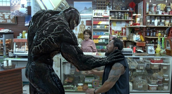 "This image released by Sony Pictures shows a scene from ""Venom."""