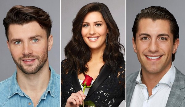 """Kamil """"Kam"""" Nicalek, left, and Jason Tartick, right, are two Upstate New Yorkers competing for Becca Kufrin's heart on season 14 of """"The Bachelorette."""""""