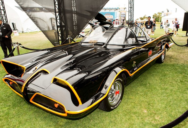 The Batmobile is pictured at the Hilton San Diego Bayfront Hotel on July 12, 2012 in San Diego, California.