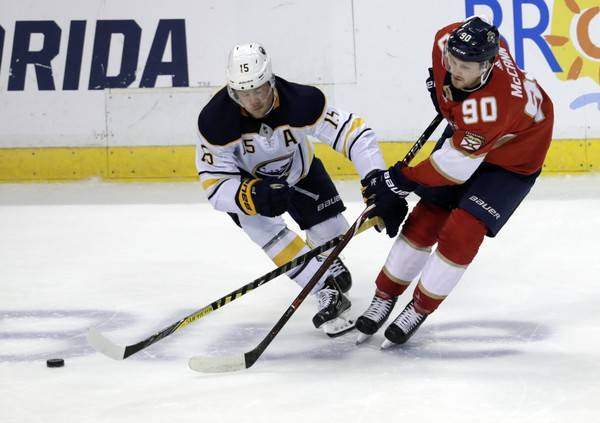 Superstars like Buffalo Sabres center Jack Eichel (15) usually play in a very limited number of exhibition games.