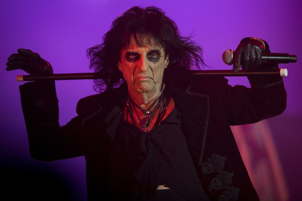 Alice Cooper and his band perform at the Rock in Rio Festival in the Olympic Park, Rio de Janeiro, Brazil, on September 21, 2017.
