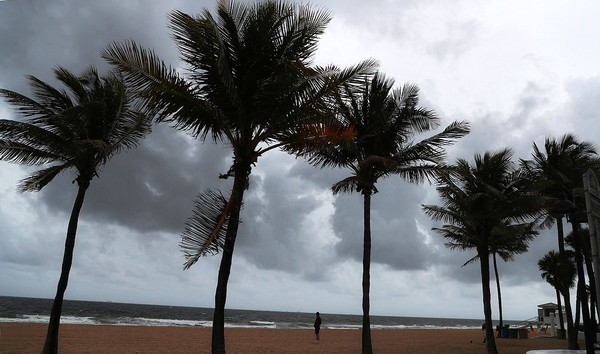 Dark clouds approach Friday near Fort Lauderdale where a state of emergency is in effect due to Subtropical Storm Alberto which could bring rain to Upstate New York