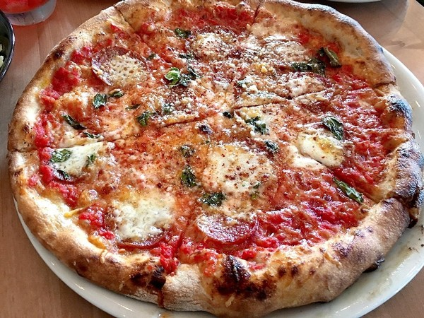 Calabrian pizza from Apizza Regionale in Syracuse, N.Y.