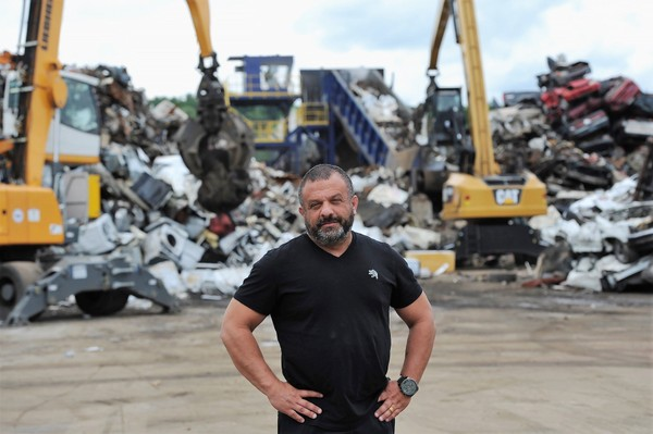 Adam Weitsman, owner of Upstate Shredding, at his scrapyard in New Castle, Pa.