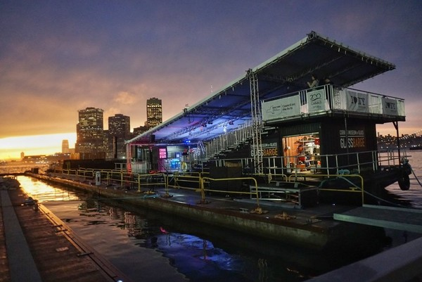 The GlassBarge launched from New York City in May and is traveling along the Hudson River and Erie Canal this summer, bringing glassblowing demonstrations to more than 30 communities.  The final destination is the Corning Museum of Glass.