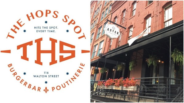 The Hops Spot, a beer, burger and poutine bar once located in Sackets Harbor, is taking the space at 116 Walton St., formerly home to Aster Pantry & Parlor.