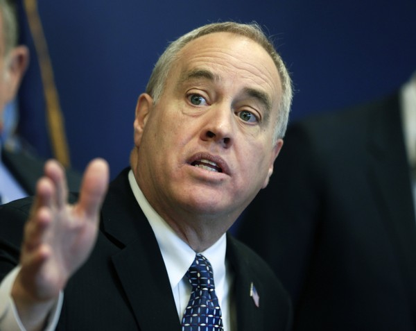 New York State Comptroller Thomas DiNapoli talks about findings of a statewide audit of nursing homes during a news conference on Monday, Feb. 22, 2016, in Albany, N.Y. (AP Photo/Mike Groll)