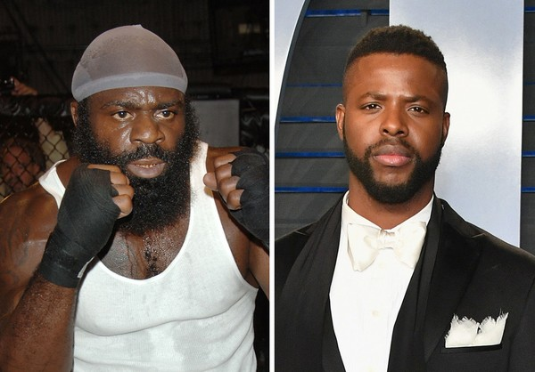 """Black Panther"" star Winston Duke, right, will play Kimbo Slice in a movie about the MMA fighter's life."