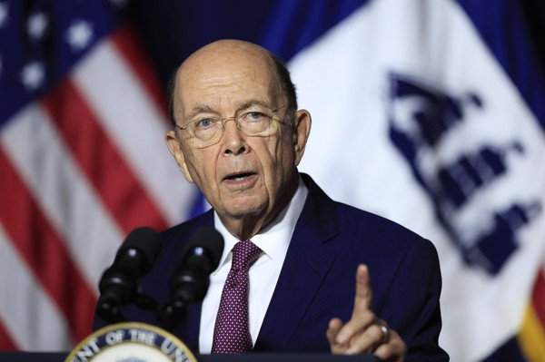 U.S. Commerce Secretary Wilbur Ross said Thursday, Aug .2, 2018 that his department will impose a permanent tariff on Canadian newsprint used by newspapers. The department agreed to reduce the preliminary tariff imposed in March 2018. (AP Photo/Manuel Balce Ceneta)