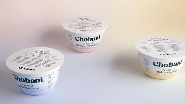 "Chobani's new ""Hint Of"" line is targeted to consumers who want a milder, less sweet, high-protein Greek Yogurt option.  (Provided photo)"