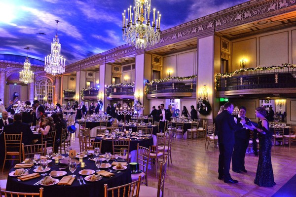 "The Marriott Syracuse Downtown hosts a ""Roaring Twenties"" New Year's Eve gala in its restored Grand Ballroom in 2016."