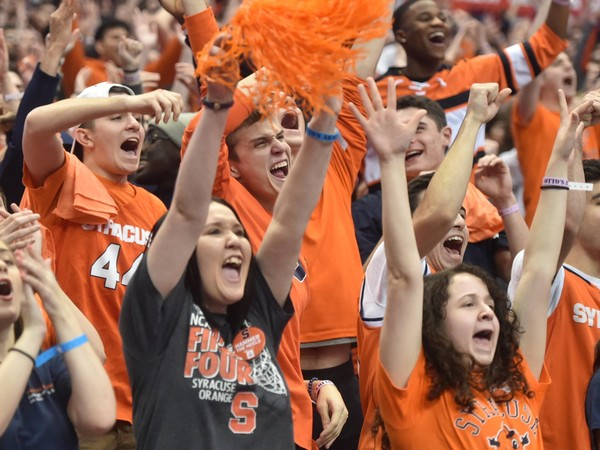 Fans take in a rollercoaster of emotions while watching Syracuse basketball take on North Carolina at the Carrier Dome, Syracuse, NY, Wednesday February 21, 2018.