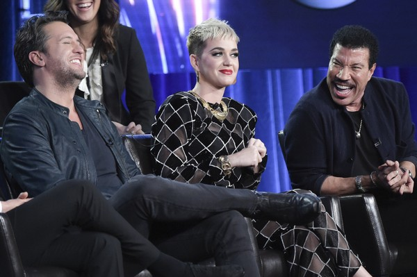 """""""American Idol"""" judges Luke Bryan, Katy Perry and Lionel Richie are seen in a file photo. (Richard Shotwell 
