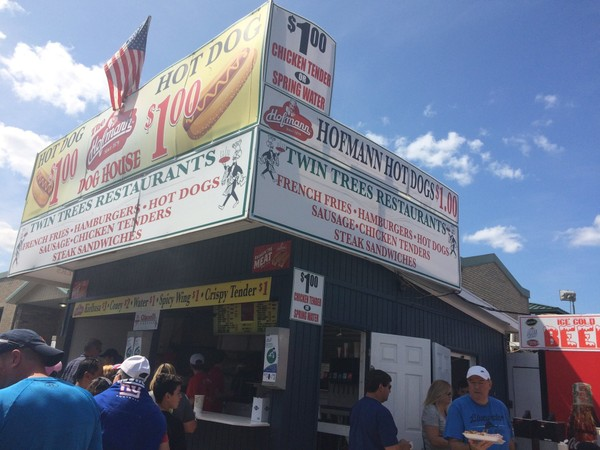 Twin Trees Restaurant at the New York State Fair was one of many vendors that sold $1 water in past years. At the 2018 fair, bottles of water will sell for at least $2.