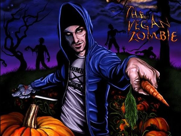 'The Vegan Zombie' is a Central New York-based cooking show on YouTube with a graphic novel cookbook for vegan recipes and the story of a zombie outbreak originating in meat and dairy products.