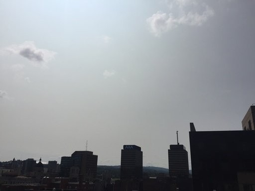 Smoke from wildfires in California has drifted to the East Coast, turning the skies near Syracuse milky white. Glenn Coin | gcoin@syracuse.com