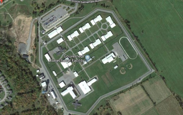 Gouverneur Correctional Facility is seen in this satellite view from Google Maps. (File)