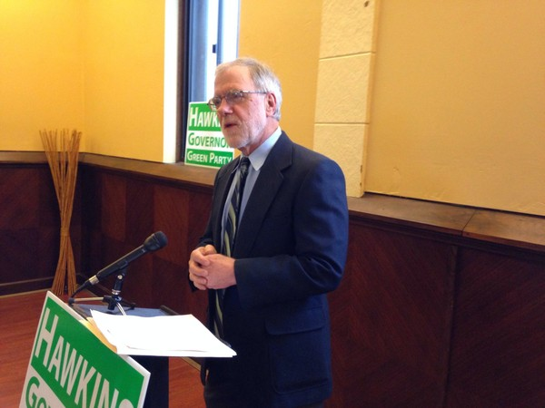 Howie Hawkins is the Green Party's candidate for NY governor in 2018.