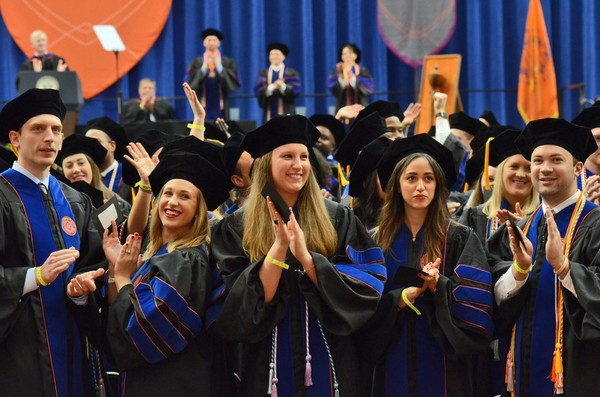 The Syracuse University College of Law's 2016 commencement in the Carrier Dome.