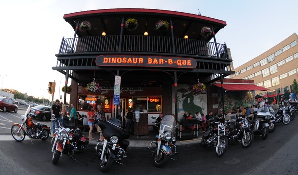 The Dinosaur Bar-B-Que is teaming up with Rally, a bus-booking company, to take fans to Buffalo Bills games at New Era Field. (Dennis Nett)
