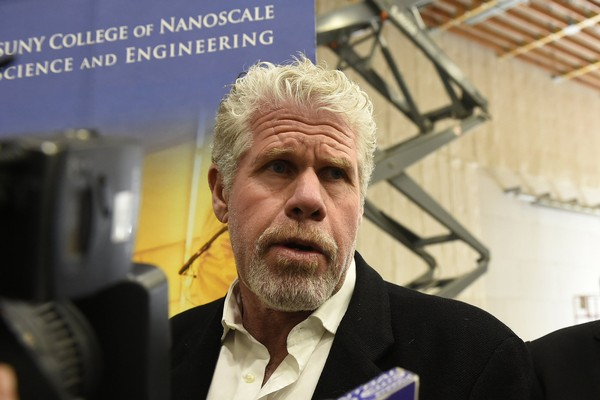 Ron Perlman, actor and producer, tours the new Central New York Hub for Emerging Nano Industries in DeWitt in 2015. (Ellen M. Blalock | syracuse.com)
