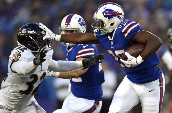 Buffalo Bills running back LeSean McCoy will look to lead his team into Baltimore in a battle against the Ravens Sunday.