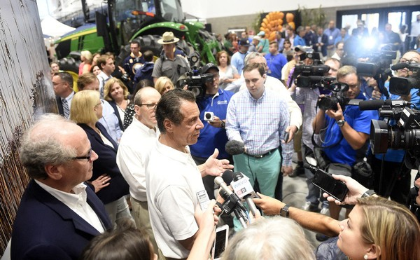 Gov. Andrew Cuomo opened the 2018 New York State Fair at the new Exposition Center, a 136,000-square-foot arena. (Dennis Nett | dnett@syracuse.com)