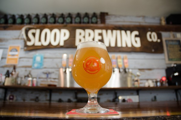 Sloop Brewing Co. has opened a large new brewery and tap room in the former IBM campus in East Fishkill, Dutchess County.  (Robert M. Davidson)