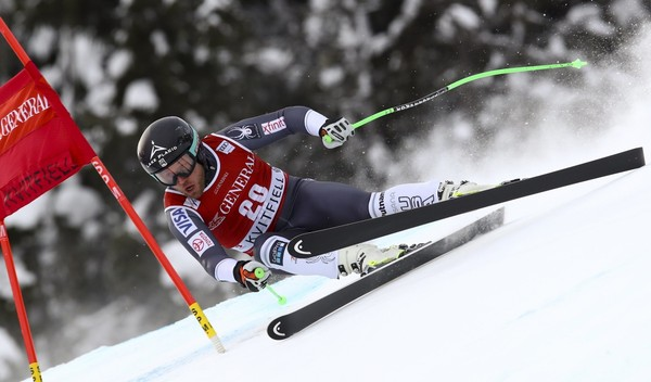 Andrew Weibrecht speeds down the course during a World Cup race in Norway.  (Alessandro Trovati | AP Photo)