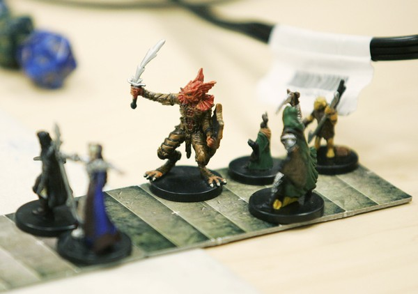 Miniature figures used in the Dungeons and Dragons role-playing game are shown Tuesday, March 25, 2008 at the Wizards of the Coast headquarters in Renton, Wash.