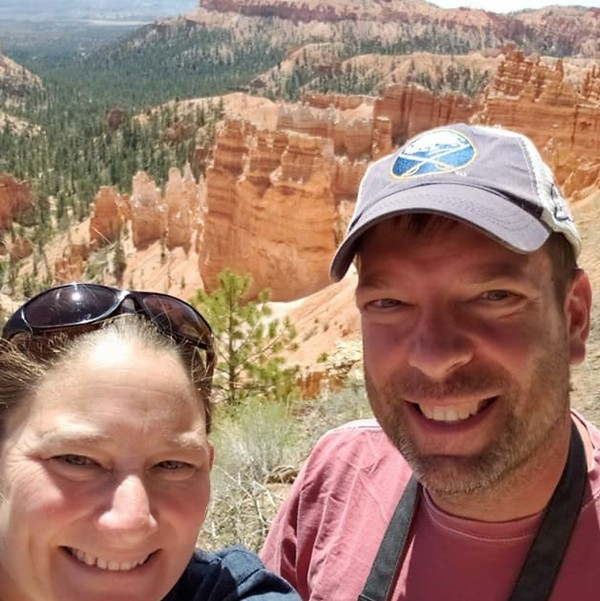 Brian Hough and his wife, Jackie Schnurr. Hough was killed in the Oct. 6 limo crash. (Provided photo)
