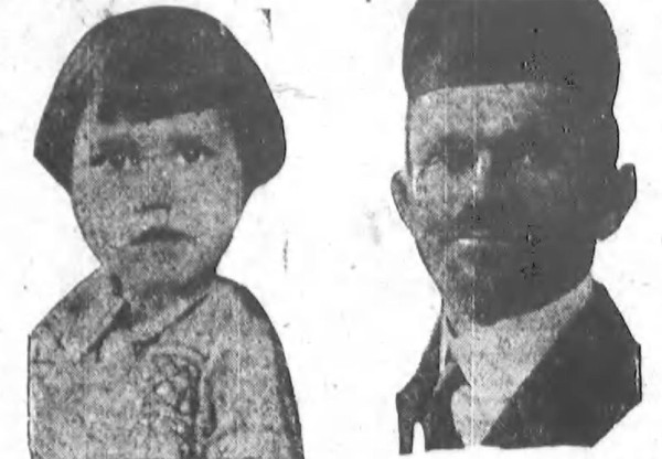 The disappearance of Barbara Griffiths, 4, (left) and the accusations made against Rabbi Berel Brennglass and Massena's Jewish population split the town in the autumn of 1928.  (The Daily Worker, Oct 5, 1928)