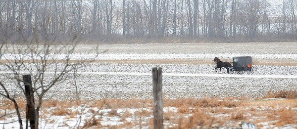 Light snow covers a field in the Seneca County town of Ovid in this 2013 file photo. (Stephen D. Cannerelli | The Post-Standard)