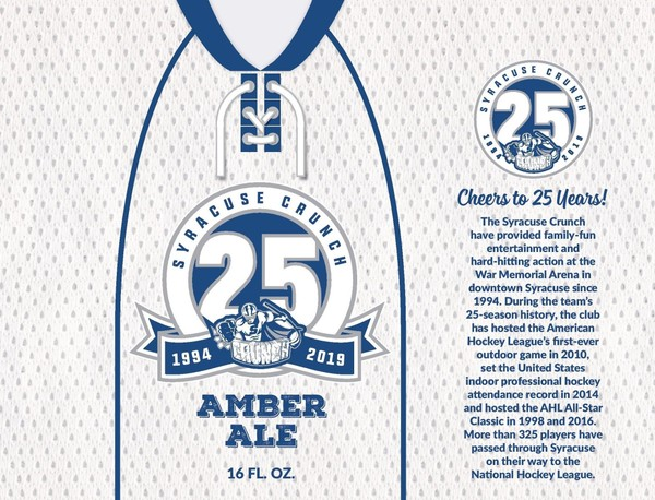 Syracuse Crunch 25th Anniversary Amber Ale